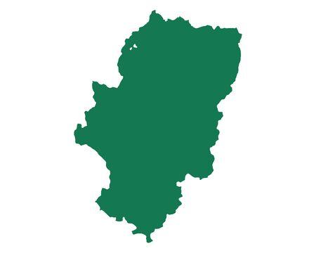 Map of Aragon 向量圖像