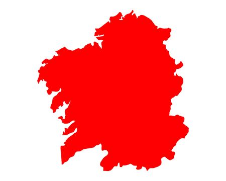 Map of Galicia 向量圖像