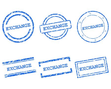 Exchange stamps 向量圖像