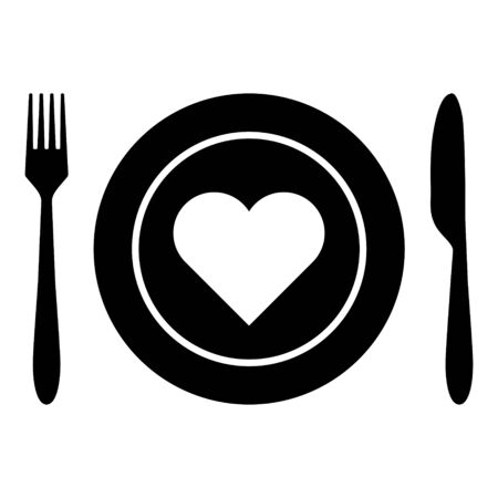 Heart and cutlery