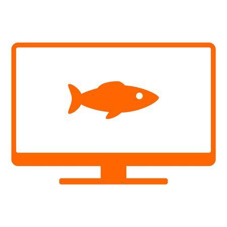 Fish and screen Illusztráció