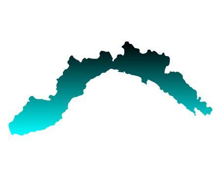 Map of Liguria 向量圖像