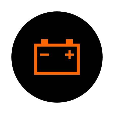 Car battery and circle 向量圖像