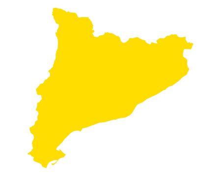 Map of Catalonia 向量圖像