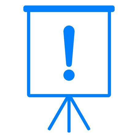 Exclamation mark and flipchart