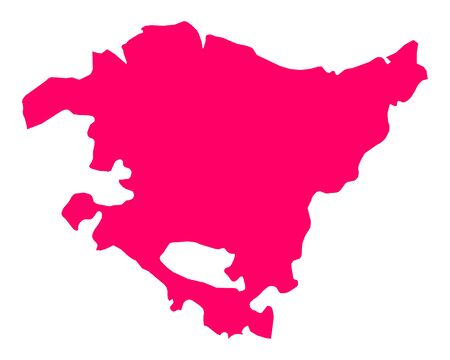 Map of Basque Country Vettoriali