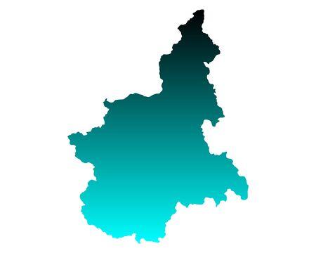 Map of Piedmont Ilustrace