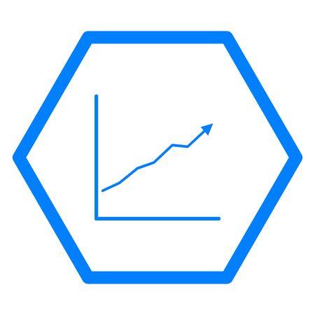 Chart and hexagon Illusztráció