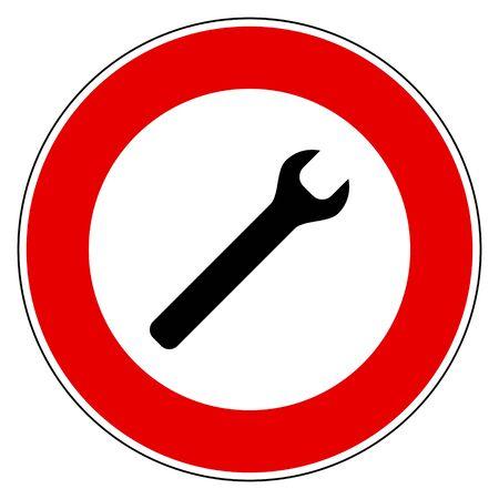 Señal de prohibición y llave