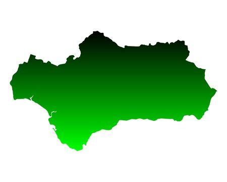 Map of Andalusia Ilustração