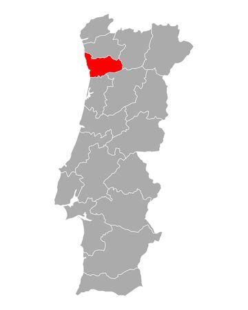 Map of Porto in Portugal 矢量图像