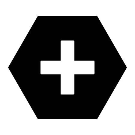 Plus and hexagon Illusztráció