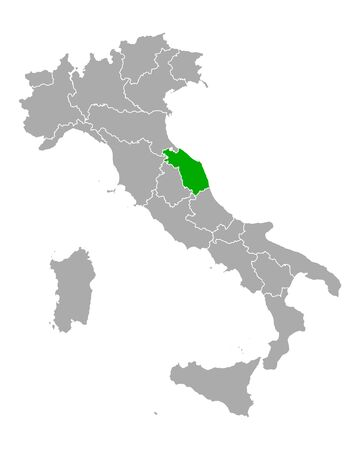 Map of Marche in Italy