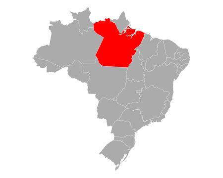 Map of Para in Brazil Иллюстрация