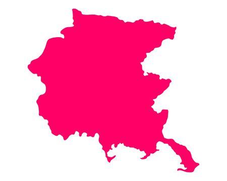 Map of Friuli-Venezia Giulia Ilustracja