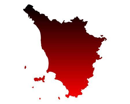 Map of Tuscany Ilustracja