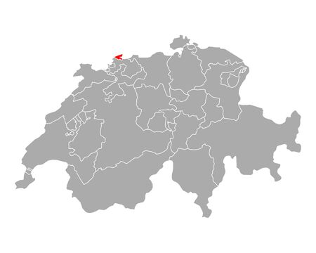 Map of Basel-City in Switzerland