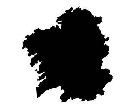 Map of Galicia Illustration