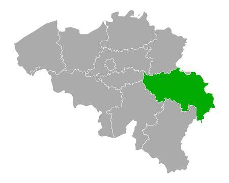 Map of Liege in Belgium Vector Illustratie
