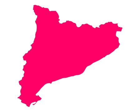 Map of Catalonia Illustration