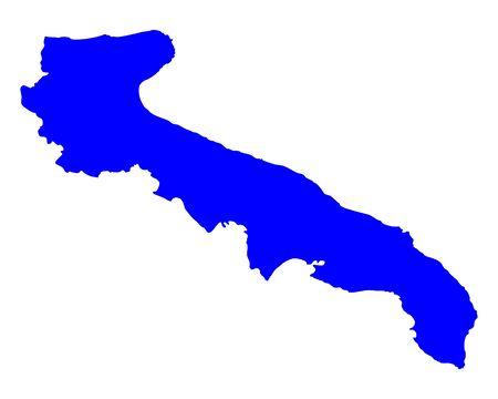 Map of Apulia
