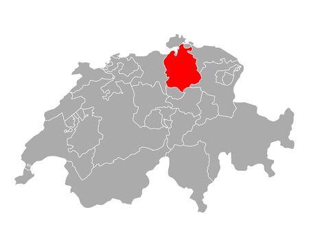 Map of Zurich in Switzerland