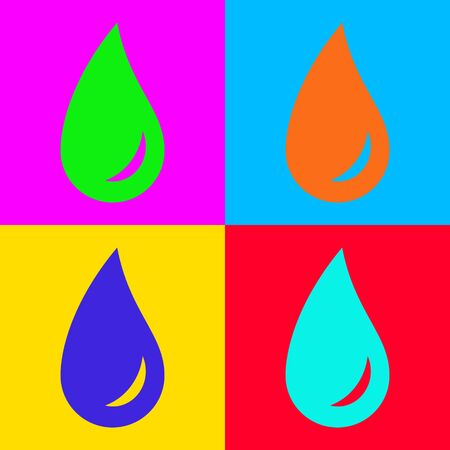 Water drop and pop-art