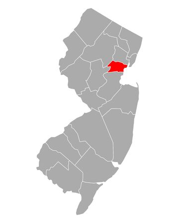 Map of Union in New Jersey