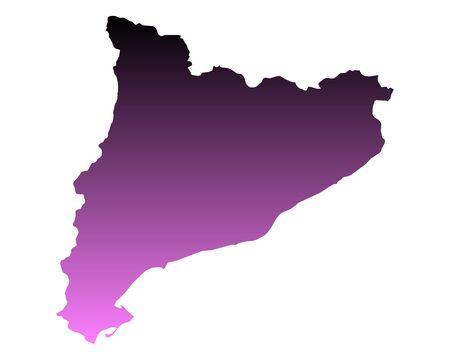 Map of Catalonia Иллюстрация