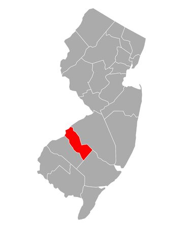 Map of Camden in New Jersey