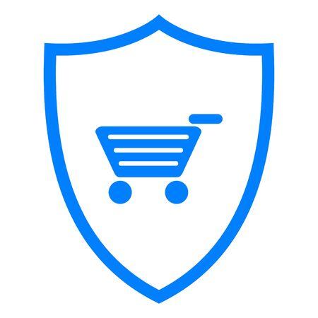 Shopping cart and shield