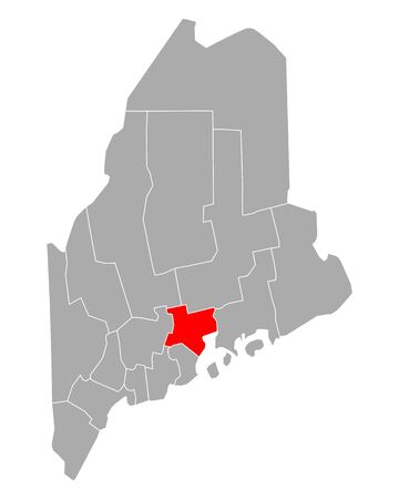 Map of Waldo in Maine