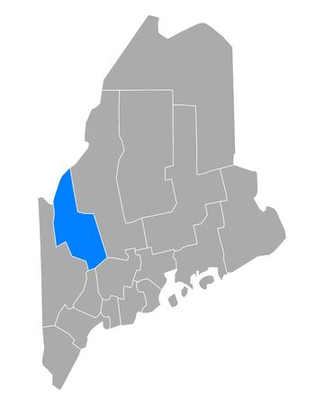 Map of Franklin in Maine Иллюстрация
