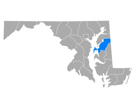 Map of Queen Anne in Maryland