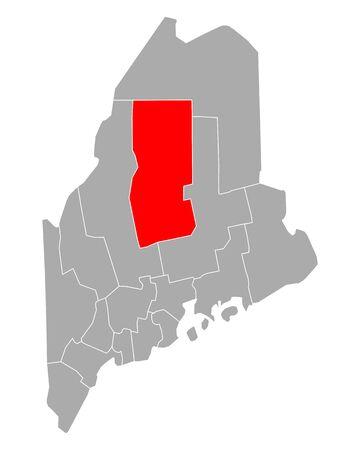 Map of Piscataquis in Maine