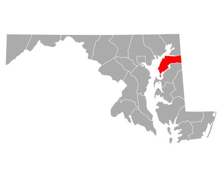 Map of Kent in Maryland