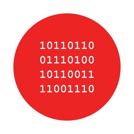 Binary code and circle 일러스트