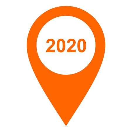 Year 2020 and location pin