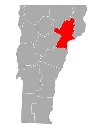 Map of Caledonia in Vermont