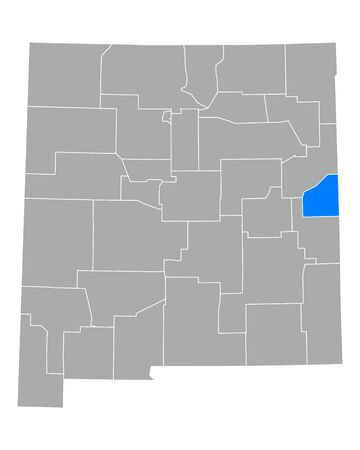 Map of Curry in New Mexico 일러스트