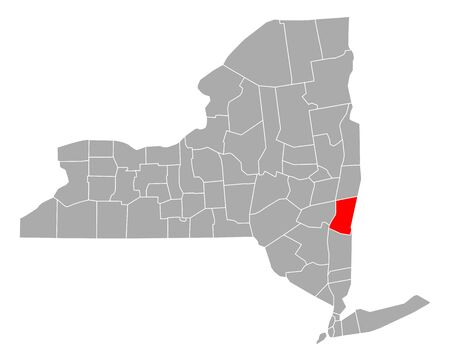 Map of Columbia in New York