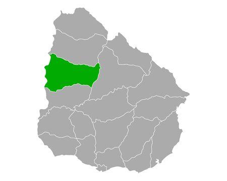 Map of Paysandu in Uruguay