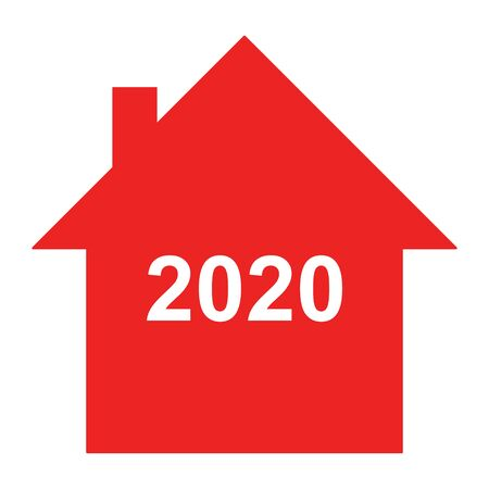 Year 2020 and home Ilustracja
