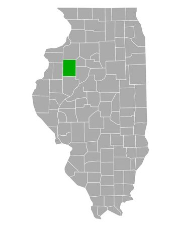 Map of Knox in Illinois
