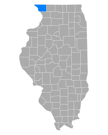 Map of Jo Daviess in Illinois