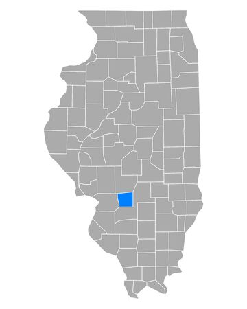 Map of Bond in Illinois