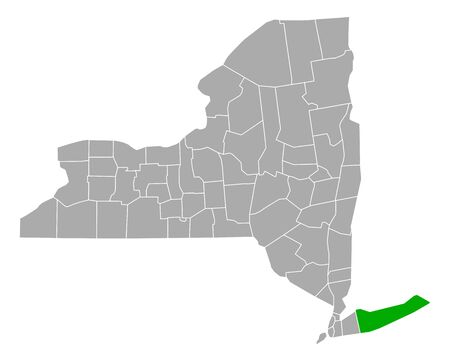 Map of Suffolk in New York