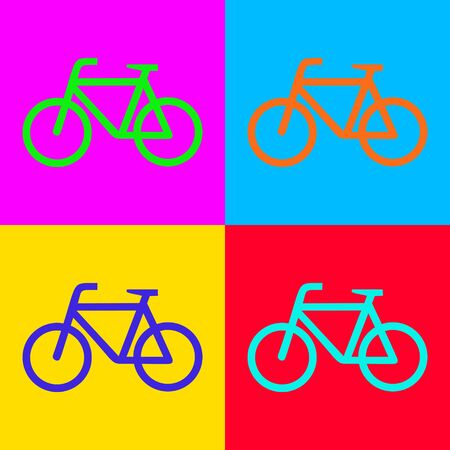 Bicycle and pop-art