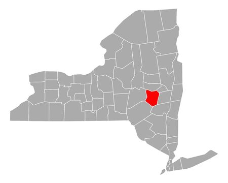 Map of Schoharie in New York Çizim