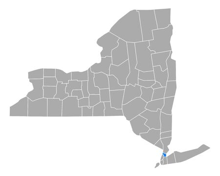 Map of Bronx in New York